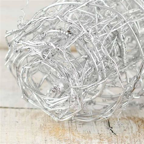 silver metallic grapevine wire garland garlands floral