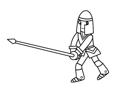 spear template spear coloring pages