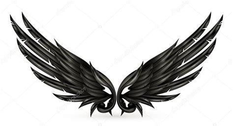 imagenes alas negras alas negras eps10 vector de stock 12819419 depositphotos