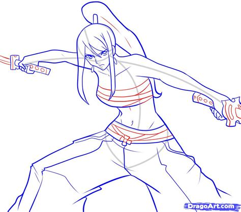 draw it how to draw erza step by step anime characters anime