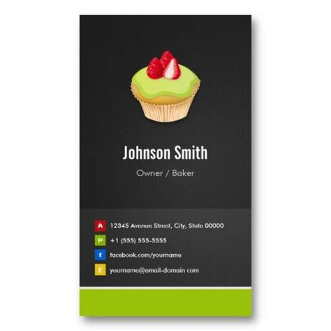 Innovative Business Card Templates by Sweet Cupcakes Bakery Creative Innovative Business Cards
