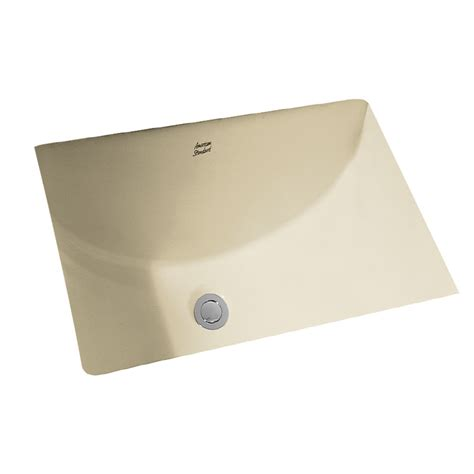 rectangular undermount bathroom sinks shop american standard linen undermount rectangular