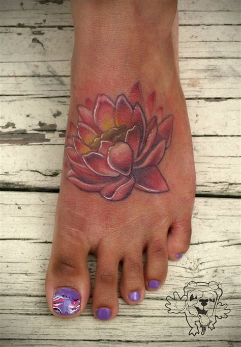 lotus flower foot tattoo designs lotus flower on foot tattoos