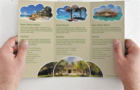 tri fold brochure template travel agency simple tri fold