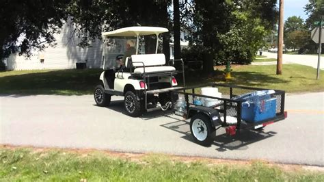 golf cart home  trailer hitch youtube