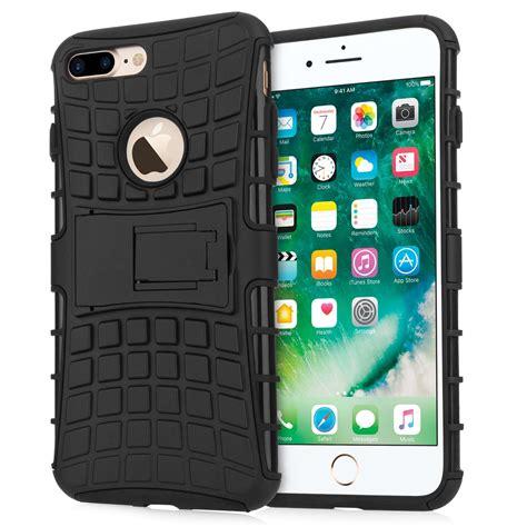 caseflex iphone 7 plus kickstand combo black retail box