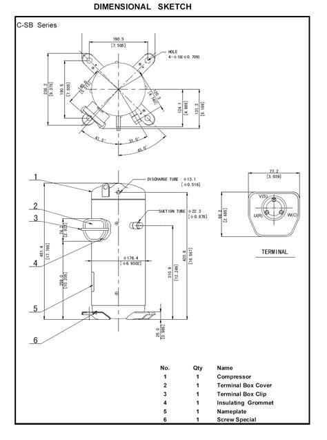 Compressor Hermetic Scroll Panasonic C Sbs120h15a Area