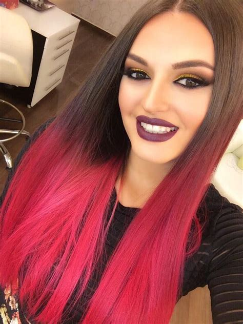 dip dyed red hairstyles 25 best ideas about red dip dye on pinterest red dip