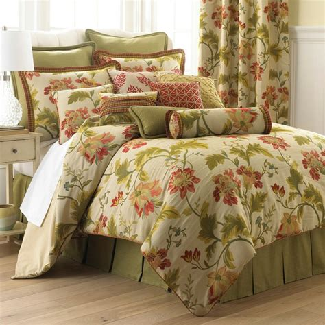 Home Collection Comforters by Tree Columbiana Bedding Collection Coral Green