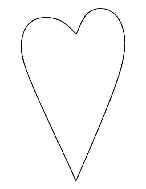 pattern for primitive heart primitive heart pattern use the printable outline for