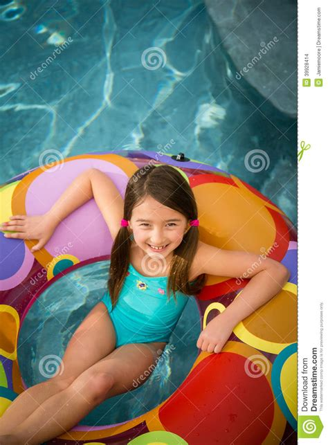 young little girls underground child girl pool stock photo image 39928414