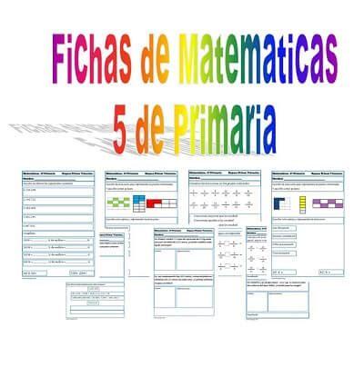 imagenes de matematicas quinto grado ejercicios de matem 225 ticas para quinto de primaria
