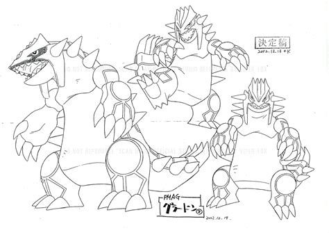 pokemon xy primal groudon coloring pages
