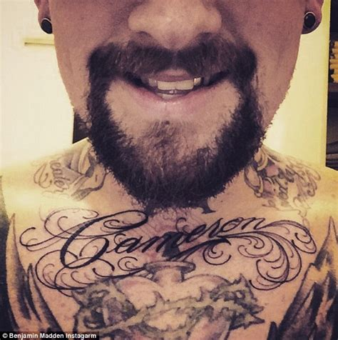 benji madden has wife cameron diaz s name tattooed on his