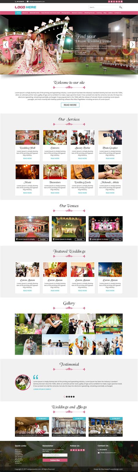 layout event organizer wedding planner and event organizer design psd template