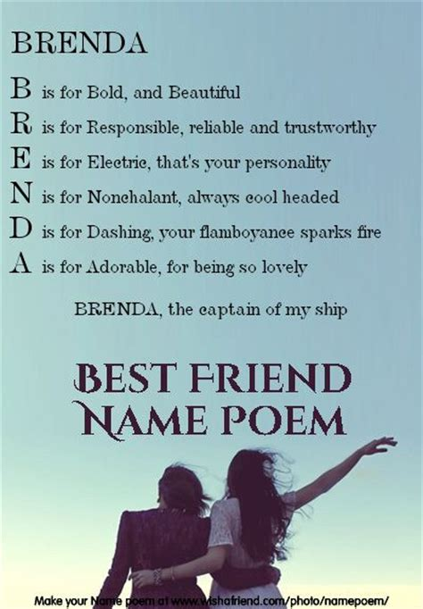 poems for your best friend 17 best images about name poems on best friend