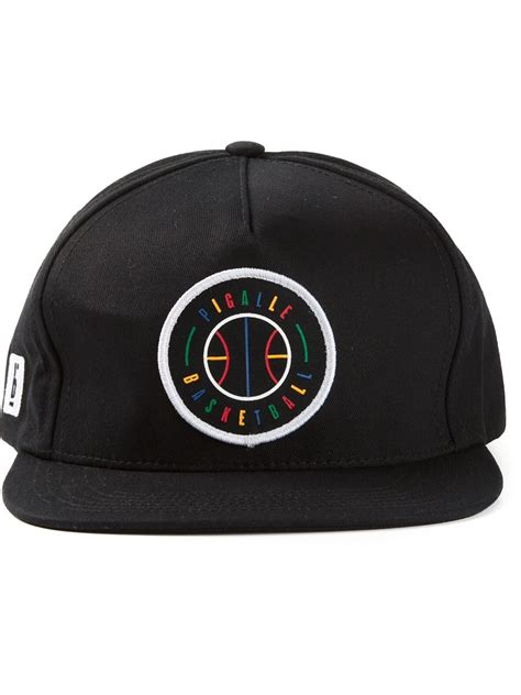 pigalle multicolored embroidered logo baseball cap in