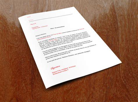 Lettre De Recommandation Quand L Utiliser lettre de recommandation pour une bourse 187 lettre de