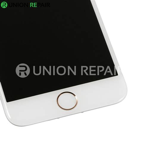 replacement for iphone 6s plus lcd screen assembly with gold ring home button white
