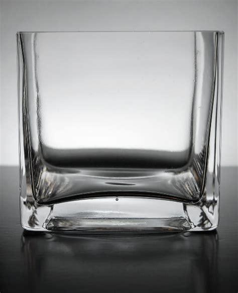 4x4 Glass Vase by Square Glass Vases 4x4