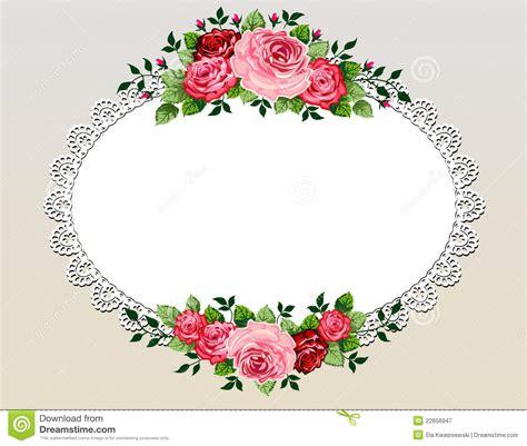 Bingkai Foto Frame Shabby vintage roses bouquet frame stock vector illustration