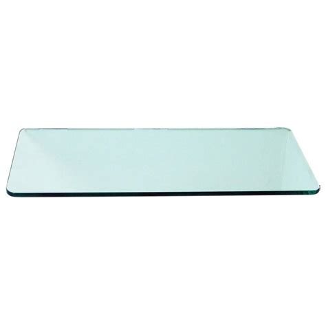 Floating glass shelves 3 8 in rectangle glass corner shelf price varies by size r1224 the