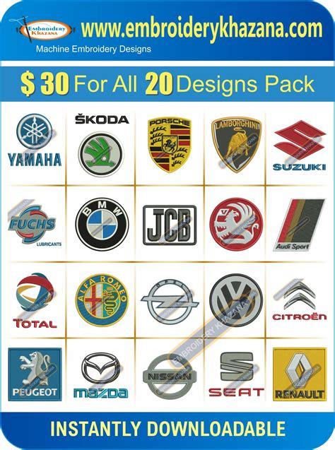 Embroidery Design Companies   car company logos embroidery deisgns set 1