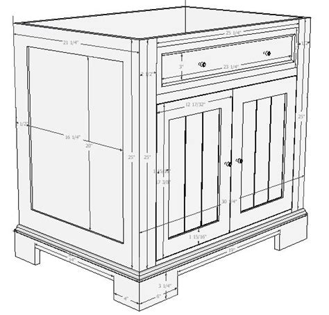 bathroom vanity plans woodwork plans for vanity cabinet pdf plans