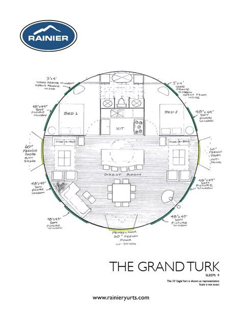 yurt floor plans rainier yurts