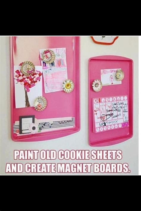 Simple Tip Use Two Cookie Sheets by Turn Cookie Sheets Into Magnant Musely