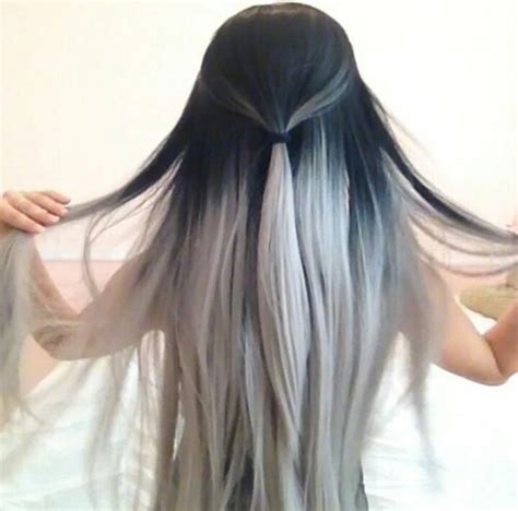 black and grey long hair styles pictures black and grey hair hairstyle long pretty white