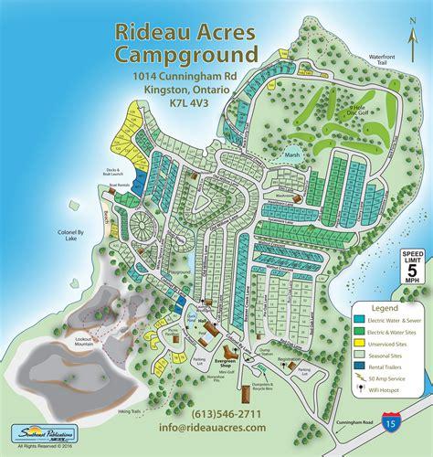 acres resort map rideau acres cing resort cing in ontario mobilerving