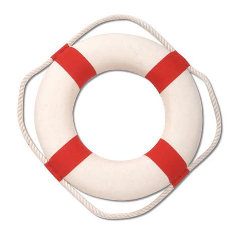 20 quot life ring buoy red white nautical wall decor darice