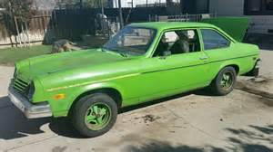 chevy vega green 1975 chevrolet vega base hatchback 2 door 2 3l for sale