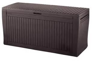 backyard storage box keter comfy storage box plastic sheds australia