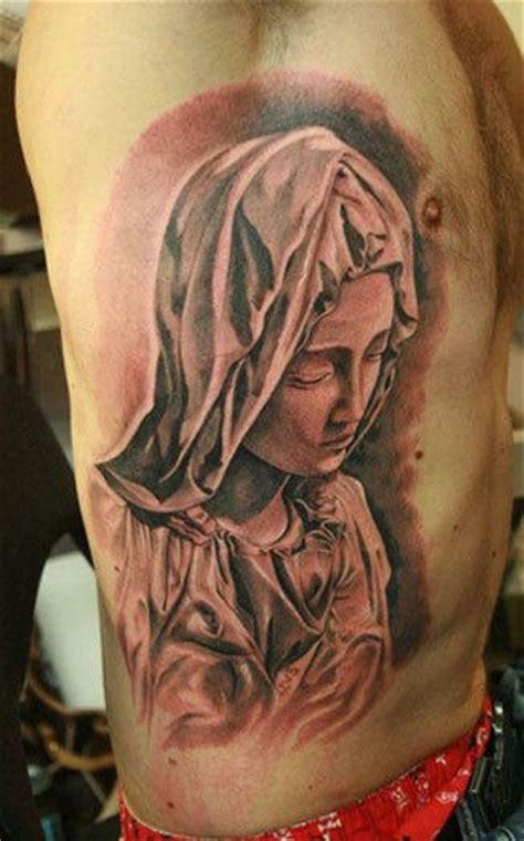 virgin mary tattoo on chest mary tattoo on rib