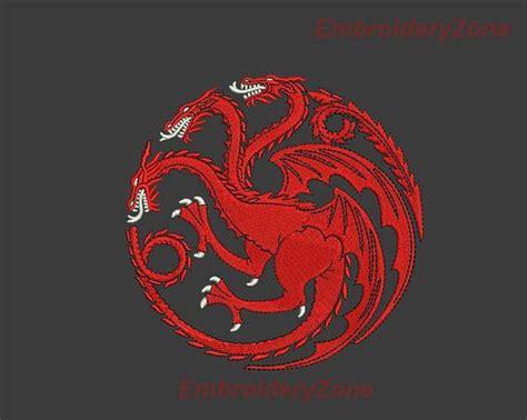 Kaos House Targaryen Of Thrones Logo House Targaryen Of Thrones Embroidery Design For