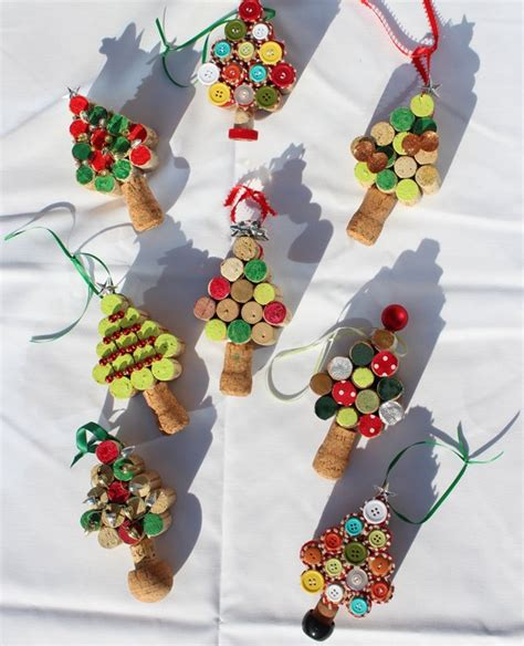 cork christmas tree wonderful diy tree ornaments using wine corks