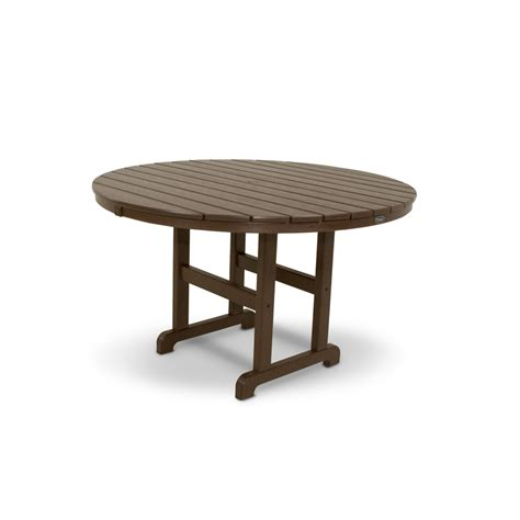 Plastic Patio Tables Shop Trex Outdoor Furniture Monterey Bay 48 In Vintage Lantern Plastic Patio Dining Table