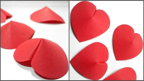 Craft Paper Hearts - how to make 3d paper for decoration diy crafts