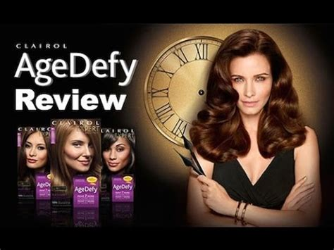 clairol ads current 2014 clairol age defy hair color review youtube