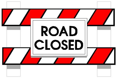 printable road closed signs road closed ahead sign clip art 10