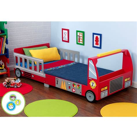 fire truck toddler bed fire engine truck junior toddler bed deluxe foam