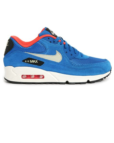 Nike Airmax90 Suede nike blue suede air max 90 in blue for lyst