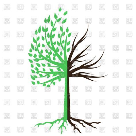 half tree tree half green half dead vector clipart image 101000