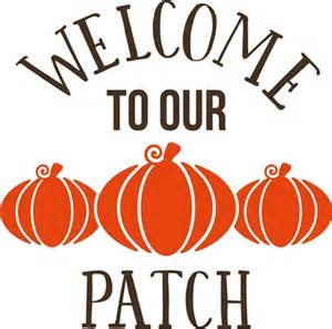 Teal Wall Stickers welcome to our pumpkin patch fall autumn decor vinyl decal