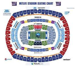 stadium seat map giants metlife stadium maps