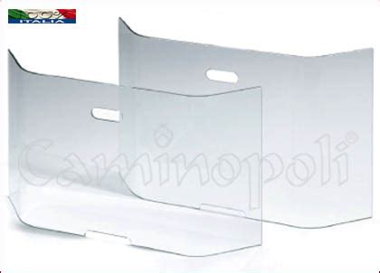 parascintille per camini parascintille temperato p138s in vetro cristallo