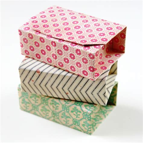 rectangular diy origami boxes gathering