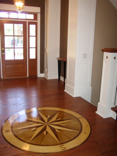 "Compass Rose Hardwood Floor Medallion   72"" Namaka Style"